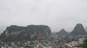 montagnes marbre