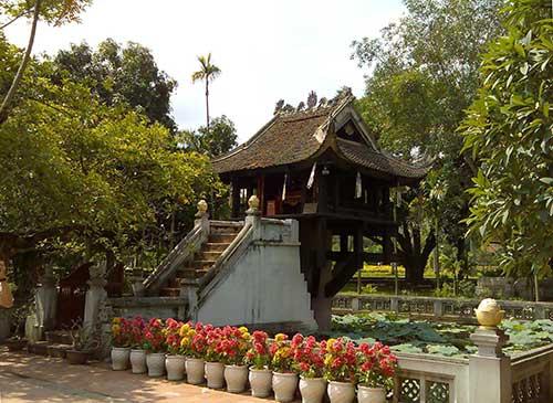 Hanoï pagode unique pilier