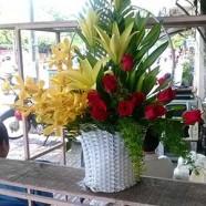 bouquet rose lys
