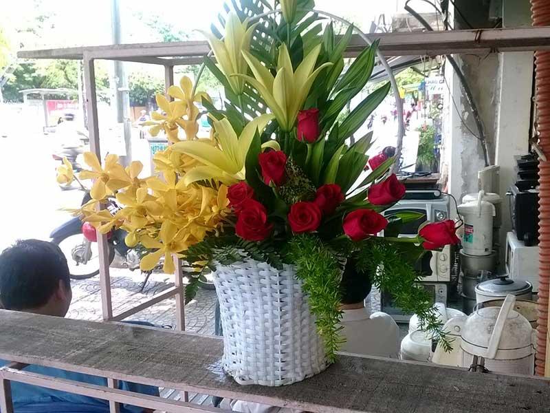 gros bouquet rose lys