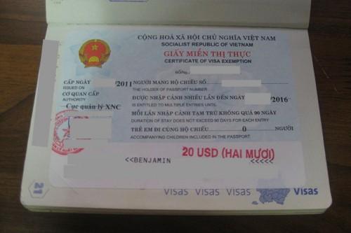 exemption visa vietnam