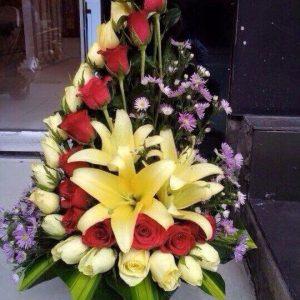 bouquet rose jaune