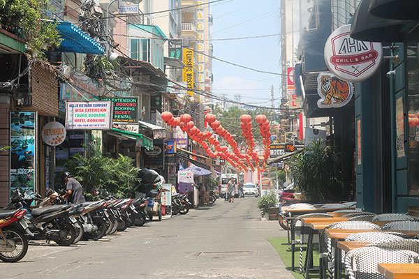 ruelle quartier routard de Saigon